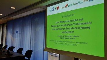 """Symposium """"Das Menschenrecht auf Zugang zu sauberem Trinkwasser und sanitärer Grundversorgung"""""""