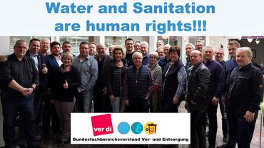 Wasser ist Menschenrecht: Der ver.di Fachbereich Ver- und Entsorgung zum Weltwassertag 2017