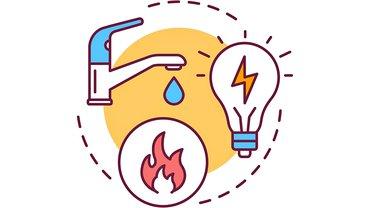 Gas Elektrik Wasser Icons Logo GWE