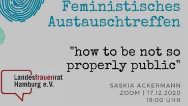 Ausschnitt des Logos für das feministische Austauschtreffen am 17.12.2020